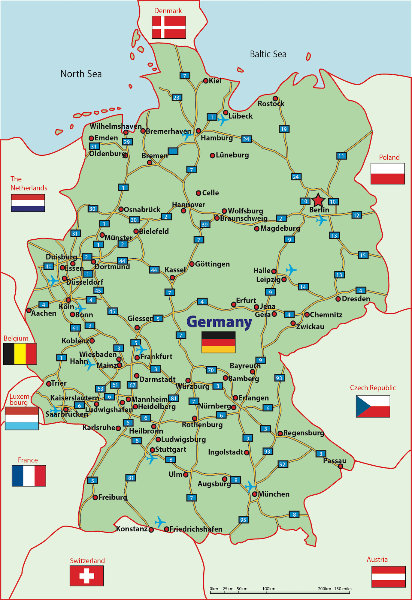 City And Regional Maps The FindIt Guide Business And Military - Germany map military bases