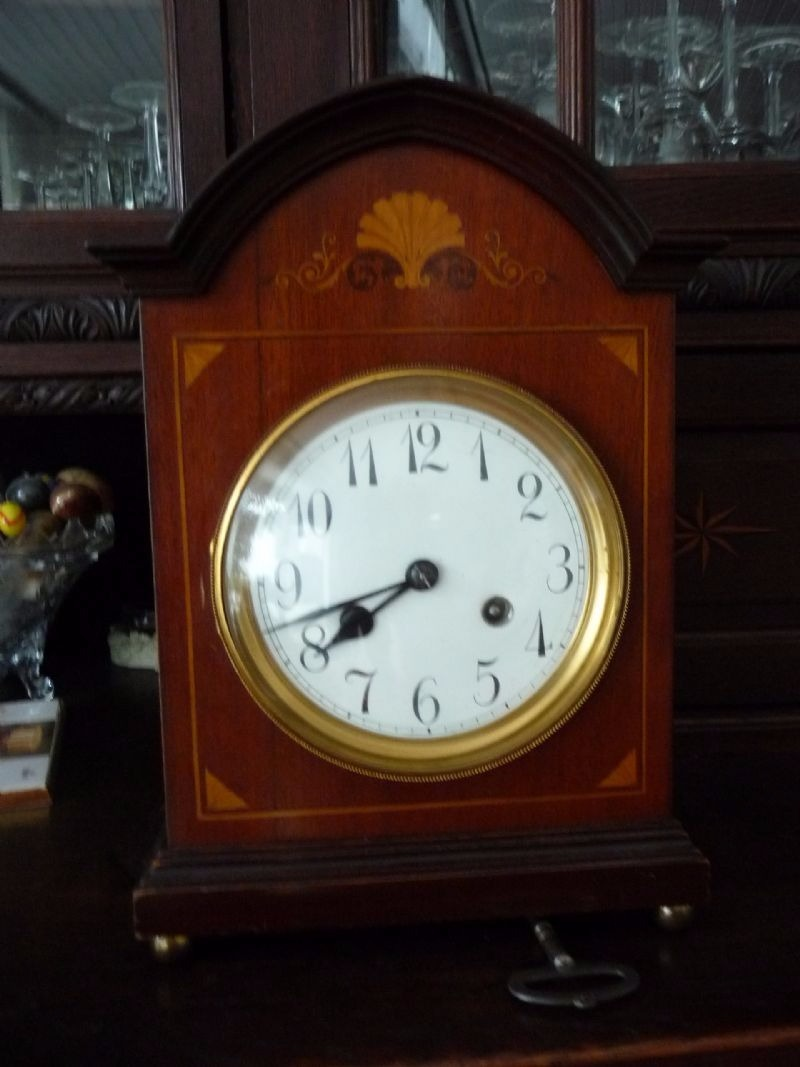 1900 german junghans quarter striking table clock