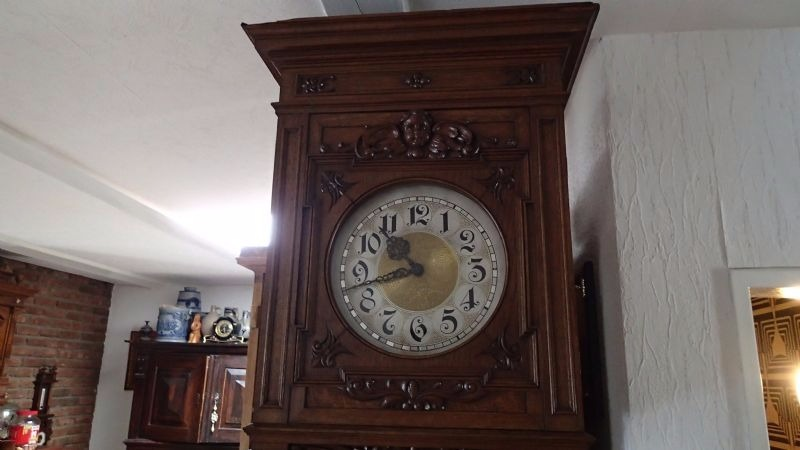 1900 S Old Style German Open Well Grandfather Clock Nice